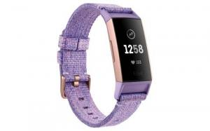 Bratara fitness Fitbit Charge 3, NFC, Lavender Woven